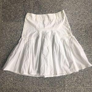 Zara White Flare Skirt with Pleats